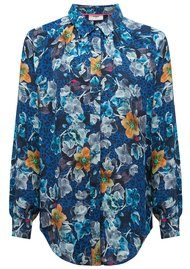 Pyrus Heather Silk Shirt - Cordelia Print