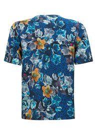 Pyrus Freesia Short Sleeve Top - Cordelia Print
