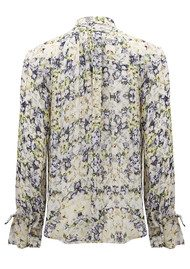 Pyrus Annie Long Sleeve Tie Blouse - Resonance Print