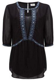 Pyrus Lolita Embellished Top - Black