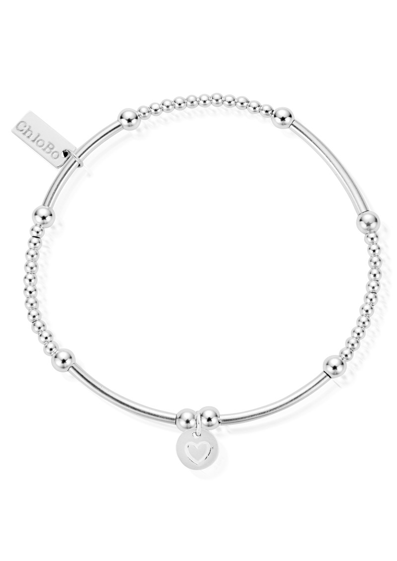 ChloBo Cute Mini Bracelet With Heart in Circle Charm - Silver main image