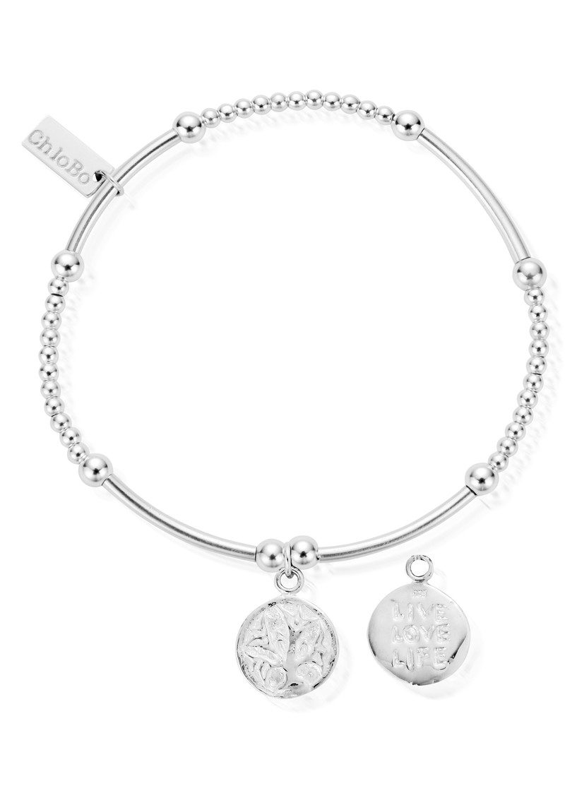 ChloBo Cute Mini Bracelet With Live Love Life Charm  - Silver main image