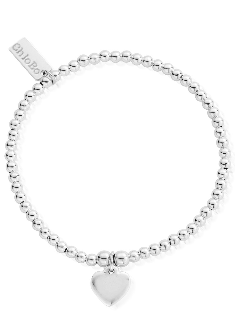 ChloBo Cute Charm Bracelet With Heart - Silver main image