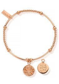 ChloBo Cute Mini Live Love Life Bracelet - Rose Gold