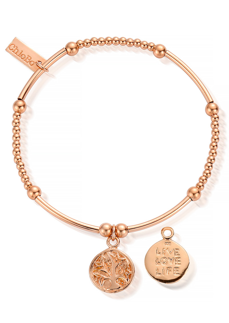 ChloBo Cute Mini Live Love Life Bracelet - Rose Gold main image