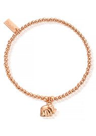ChloBo Cute Charm Mini Elephant Bracelet - Rose Gold