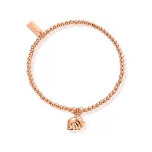 Cute Charm Mini Elephant Bracelet - Rose Gold