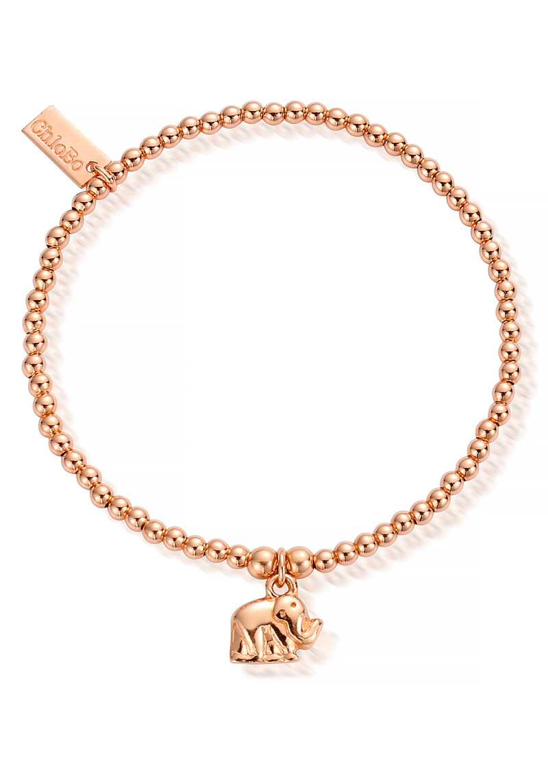 ChloBo Cute Charm Mini Elephant Bracelet - Rose Gold main image