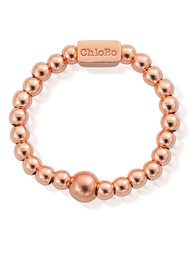 ChloBo Mini Ball Ring - Rose Gold