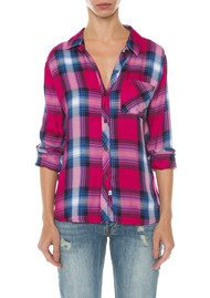 Rails Hunter Shirt - Berry & Navy