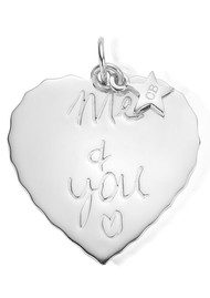 ChloBo Large Me & You Pendant - Silver