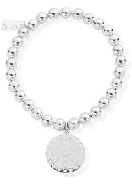 ChloBo Small Ball Dotty Peace Bracelet - Silver