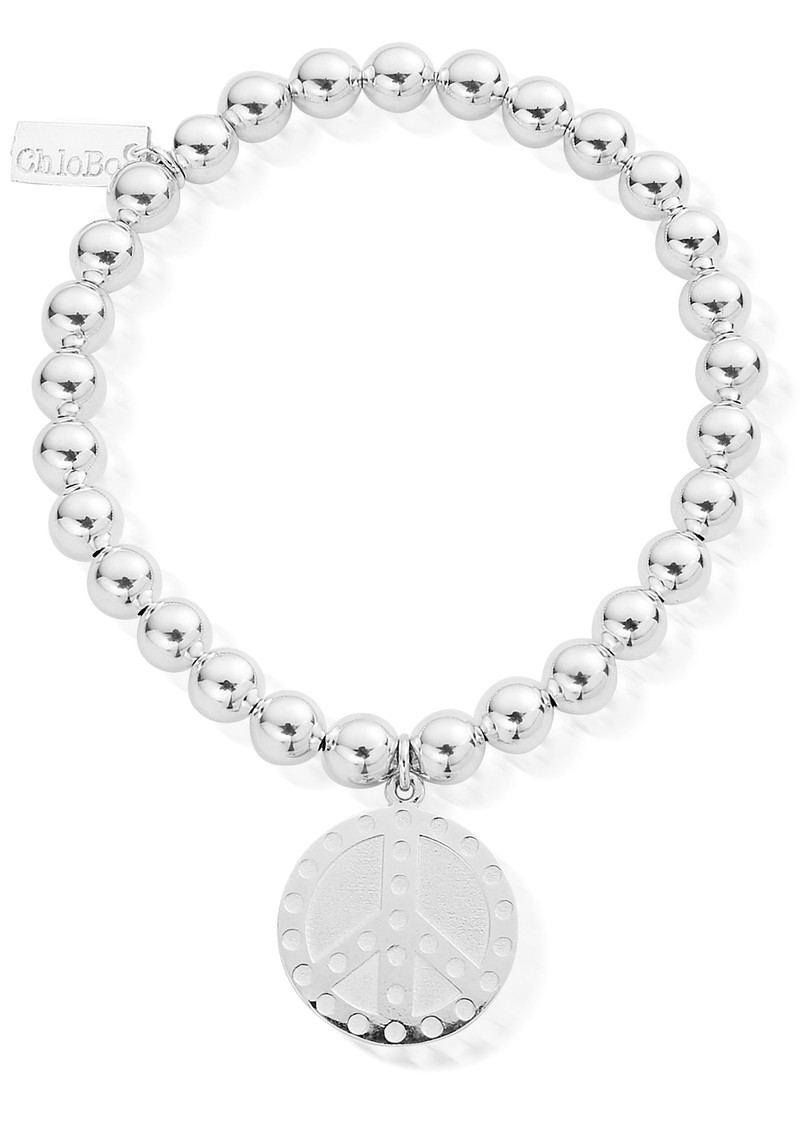 Small Ball Dotty Peace Bracelet - Silver main image