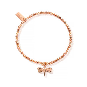 Cute Charm Dragonfly Bracelet - Rose Gold
