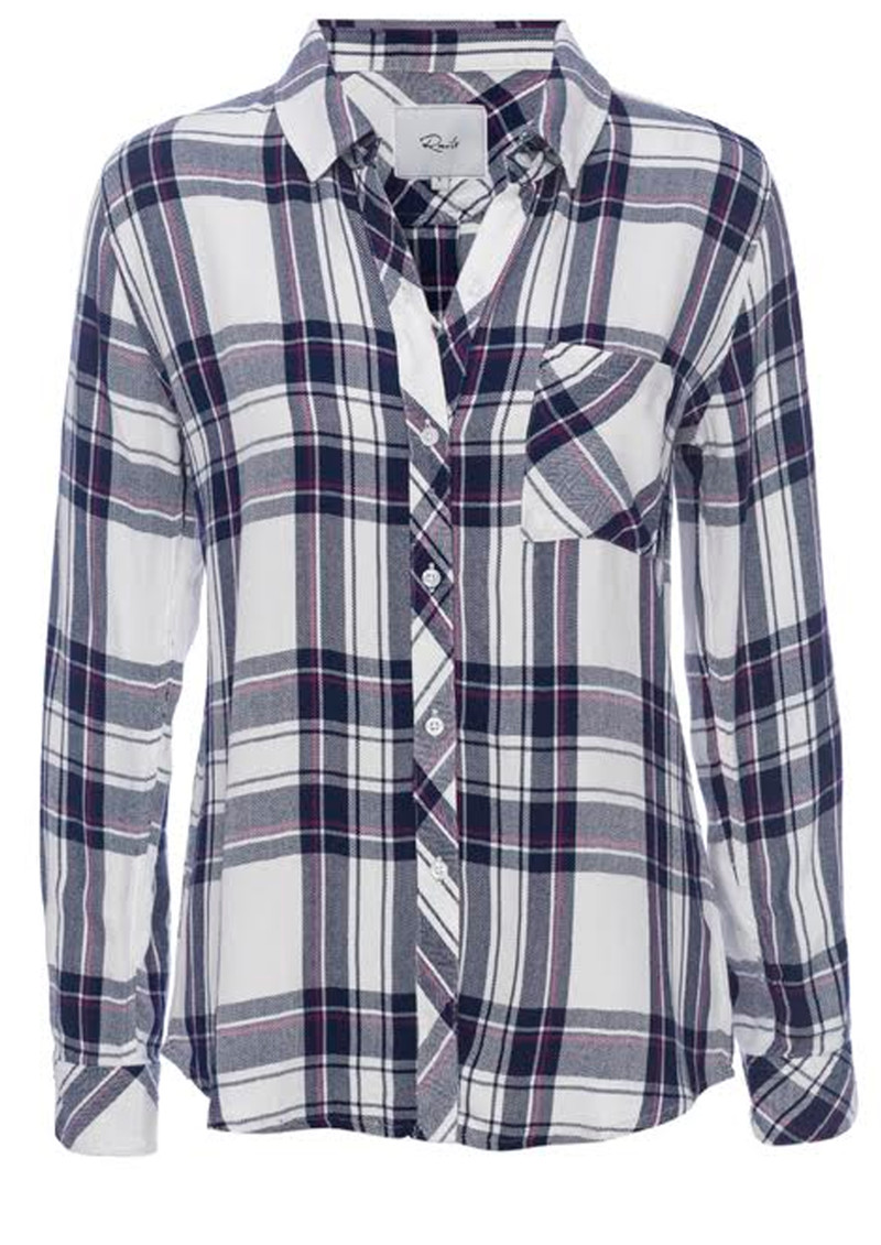 Rails Hunter Shirt - Navy, Orchid & White main image