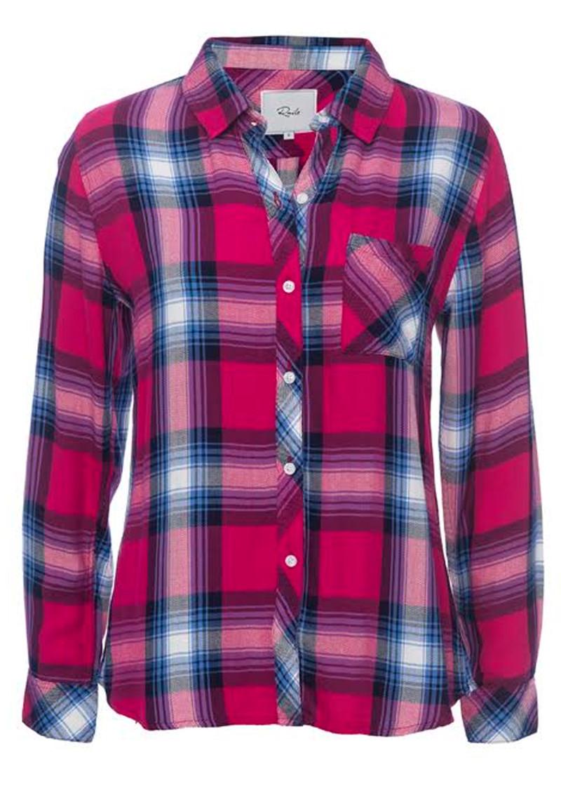 Rails Hunter Shirt - Berry & Navy main image