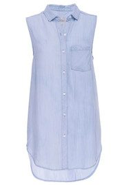 Rails Jaime Sleeveless Shirt - Light Vintage Wash