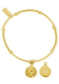 ChloBo Cute Mini Live Love Life Bracelet - Gold