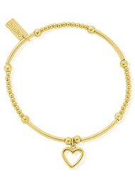 ChloBo Cute Mini Open Heart Bracelet - Gold