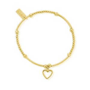 Cute Mini Open Heart Bracelet - Gold
