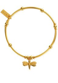 ChloBo Mini Noodle Ball Dragonfly Bracelet - Gold