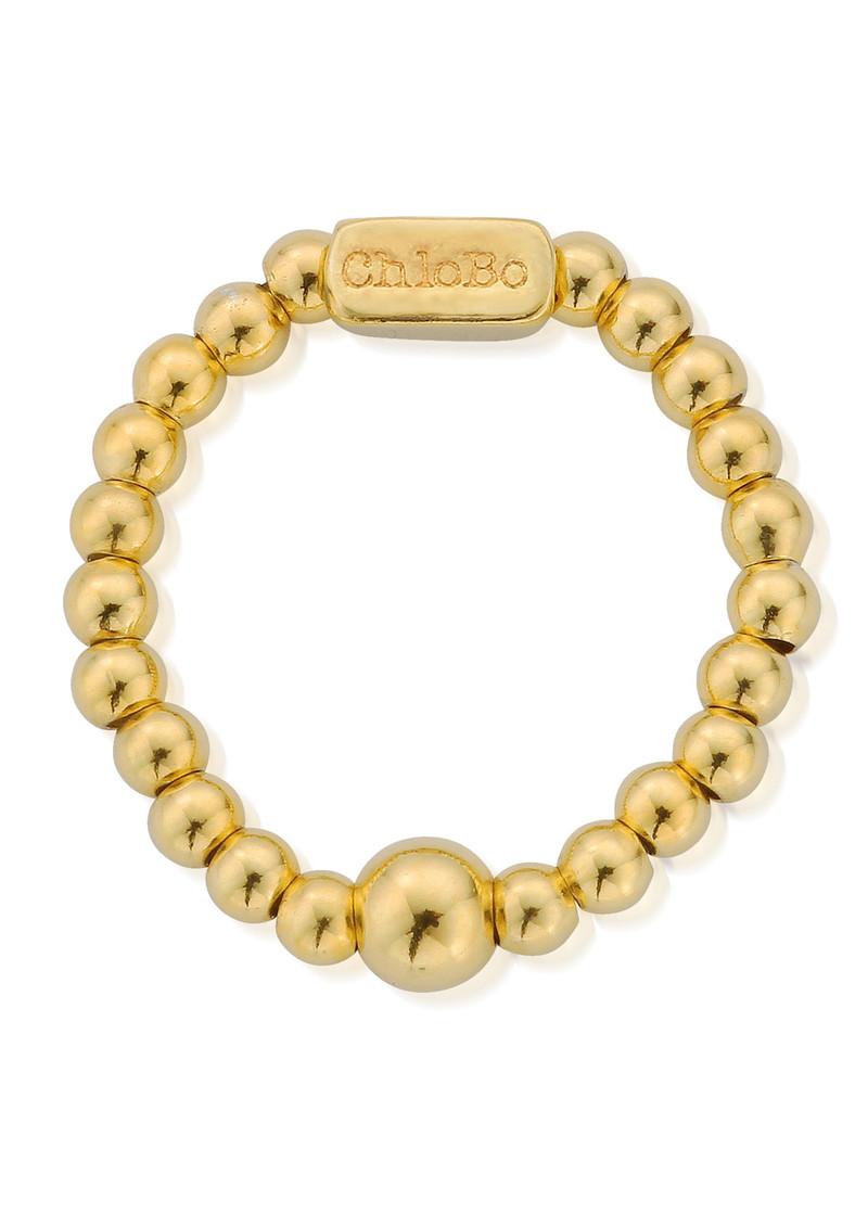 ChloBo Mini Ball Ring - Gold main image