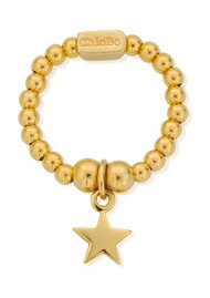 ChloBo Mini Ball Star Ring - Gold