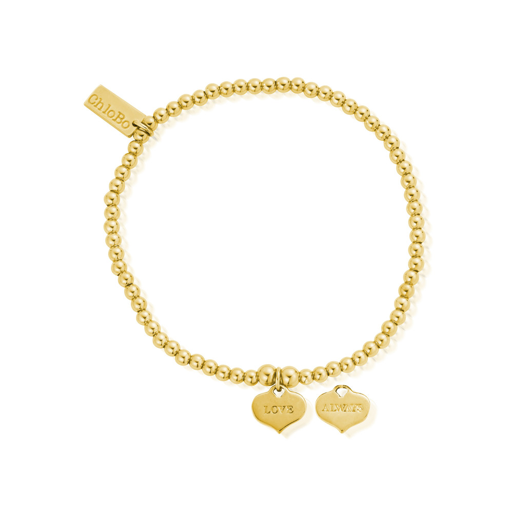 Cute Charm Love Always Bracelet - Gold