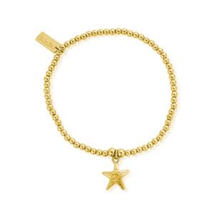 Cute Charm Starfish Bracelet - Gold