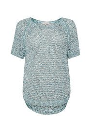 Great Plains Nile Valley Knitted T-Shirt - Aqua Marine Green