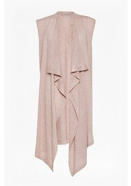 Great Plains Katherine Silk Mix Sleeveless Cardigan - Rose Quartz