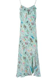 RIXO London Lily Ruffle Cami Dress - Mint Animal