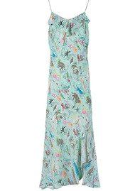 RIXO London Lily Ruffle Cami Dress - Mint Animal