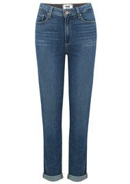 Paige Denim Hoxton Cropped Roll Up Jeans - Janson