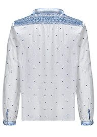 Ba&sh Marcus Cotton Shirt - White & Blue