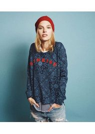 SUNDRY Flock Raglan Sweatshirt - Navy Sunrise