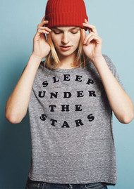 SUNDRY Under The Stars Flock Tee - Heather Grey