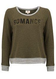 SUNDRY Romance Crop Pullover - Olive