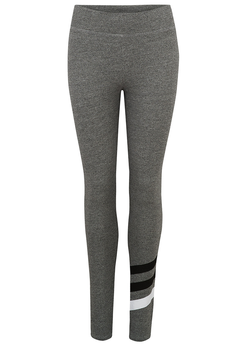 Striped Yoga Pants - Heather Grey main image
