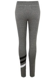 Striped Yoga Pants - Heather Grey
