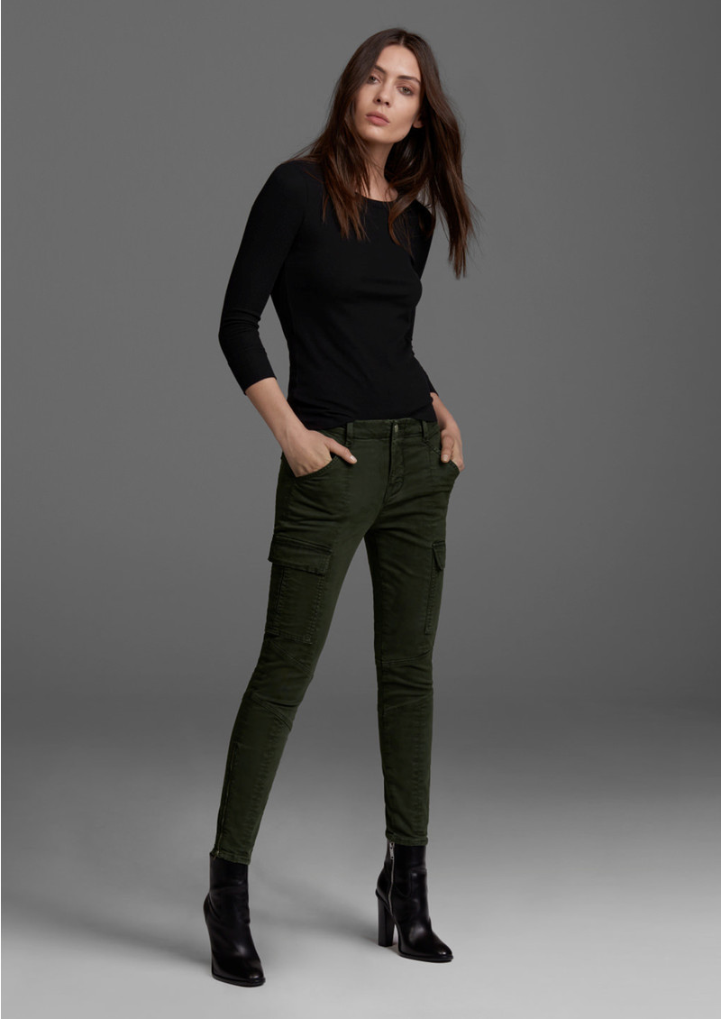 J Brand Houlihan Mid Rise Cargo Jeans - Distressed Caledon main image