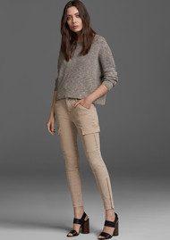 J Brand Houlihan Mid Rise Cargo Jeans - Distressed Sandsky