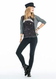 Maison Scotch 3/4 Length Star Gazer Tee - Antra Mele