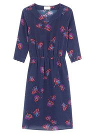 Ba&sh Peper Silk Dress - Marine