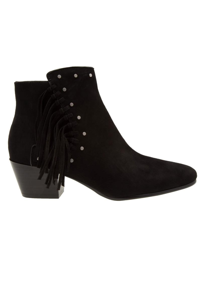 103f6dd1d8af87 Sam Edelman Rudie Suede Fringe Boots - Black
