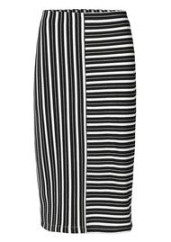 2nd Day 2nd Cut Striped Skirt - Salt & Pepper