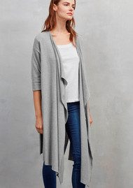 Great Plains Kitten Waterfall Cardigan - Pale Grey Melange