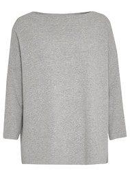 Great Plains Kitten Boxy Style Knit - Pale Grey Melange