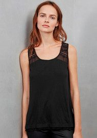 Great Plains Featherweight Lace Top - Black