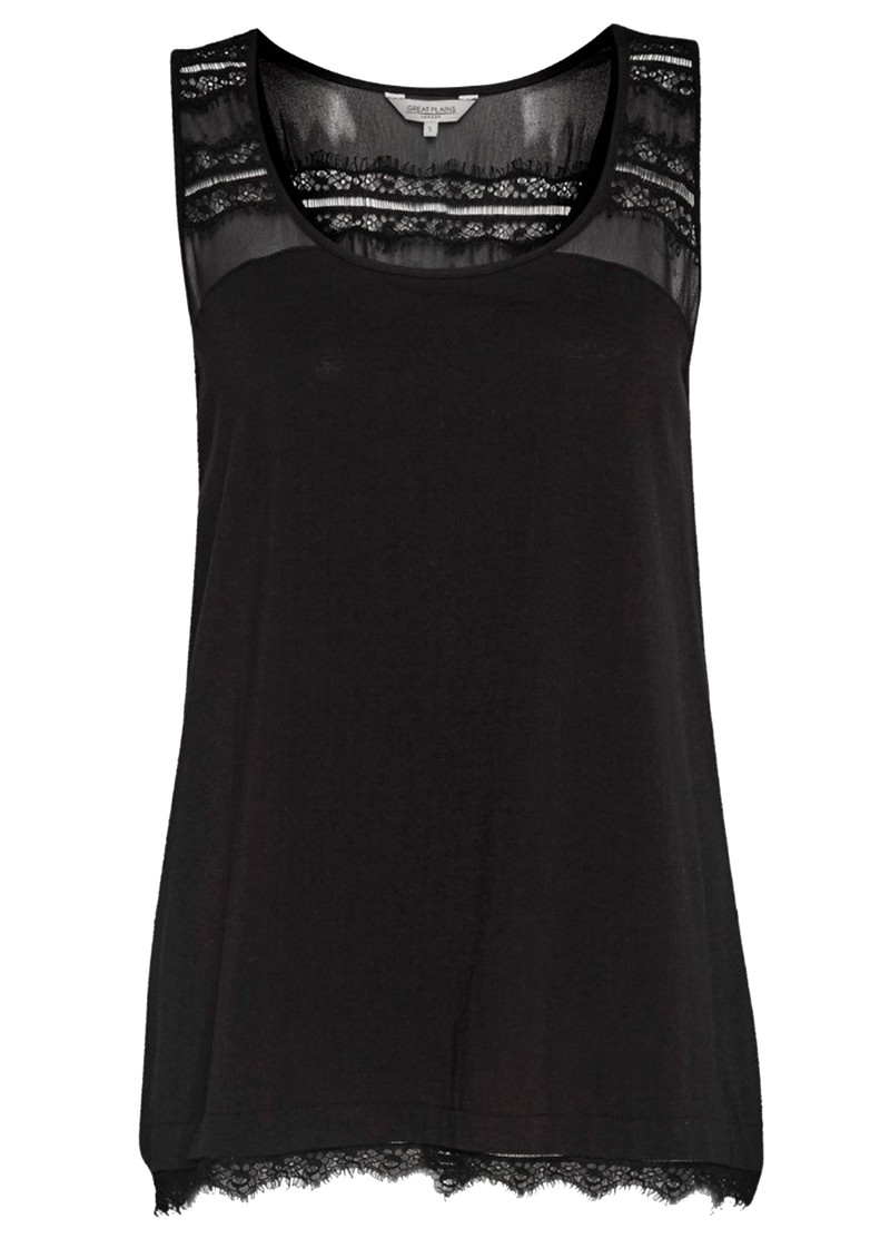 Great Plains Featherweight Lace Top - Black main image